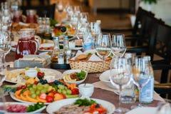 wydarzenia partyjny setu stół Zdjęcie Stock