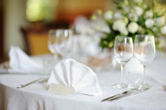 wydarzenia partyjny setu stołu ślub Obraz Royalty Free