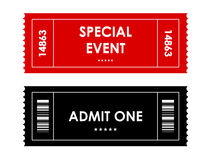 Wydarzenie bilet Obrazy Stock