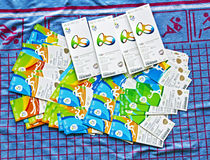 Wydarzenie bilety dla 2016 Rio olimpiad Obraz Royalty Free