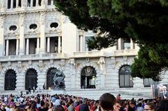 Wydarzenie blisko urzędu miasta Porto Zdjęcia Stock