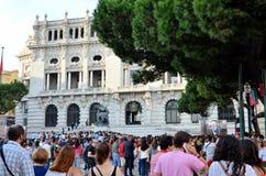 Wydarzenie blisko urzędu miasta Porto Obrazy Stock