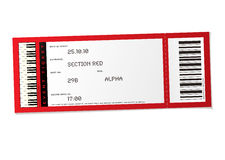 wydarzenie koncertowy bilet Obrazy Stock