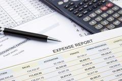 Wydatkowy zarządzanie i raport Obrazy Stock