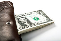 Wydawać pieniądzy w twój portflu Zdjęcia Stock