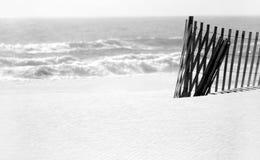 wydmy piasku plaży ogrodzenie Obrazy Stock