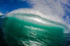 Wydrążenie fala wody perspektywa Fotografia Royalty Free