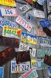 Wydychane tablicy rejestracyjne zdjęcie royalty free