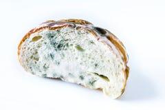 Wydychany chleb z foremką Odizolowywający na białym tle z Clipp obraz royalty free
