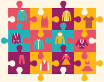 Wydziałowy sklep odziewa nowożytne ikony. Ilustracji