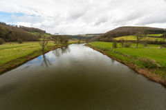Wye ποταμών στο πήδημα Wintour's στοκ φωτογραφίες