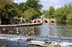 Wye do rio, Bakewell Fotos de Stock Royalty Free