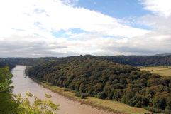 Wye river view near chepstow Royalty Free Stock Photo