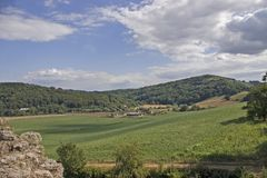 Wye Valley. View across the Wye Valley towards the Forest of Dean England Royalty Free Stock Photo