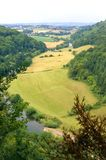 Wye Valley England. View of the wye valley and river from Yats rock England royalty free stock photo