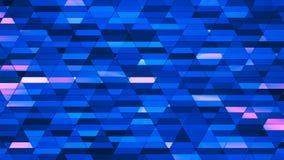 Wyemitowana Mrugliwa Diamentowa technika Mali bary, błękit, abstrakt, Loopable, 4K royalty ilustracja