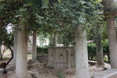 Wygłupy dobrze w Saloniki, Grecja zdjęcie stock