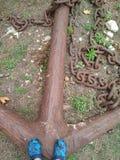 Wygłupy kotwica w Pylos kasztelu obrazy stock
