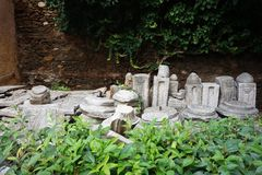 Wygłupy ruiny w Saloniki, Grecja zdjęcia stock