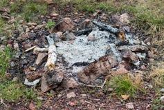 Wygasły ognisko w górę zdjęcia royalty free