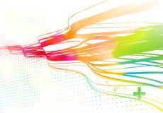 Wyginać się barwione linie tło ilustracja wektor