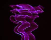Wyginać się purpurowe linie Zdjęcia Stock