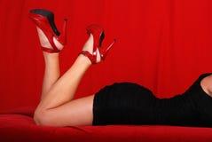 wygina się kobiecy seksownego obraz royalty free