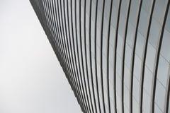 Wyginająca się szklana fasada Hong Kong drapacz chmur Obraz Royalty Free