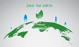 Wyginający się Światowej mapy wektor, Zielona planeta Oprócz Ziemskiego pojęcia, mapa Dla strony internetowej, sprawozdanie roczn fotografia royalty free