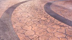 Wyginający się cegły lub kamienia podłoga tło Obrazy Royalty Free