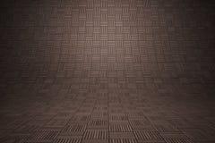 Wyginający się drewniany kwadratowy tło Obrazy Stock