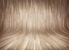 Wyginający się drewniany parkietowy tło Obrazy Stock