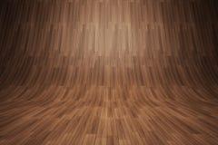 Wyginający się drewniany tło Obrazy Royalty Free