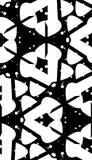 Wyginający się kształta monochromu wzór Obrazy Royalty Free