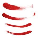 Wyginający się nafcianej farby muśnięcia uderzenia odizolowywający obraz stock