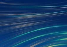 Wyginający się neonowi paski szczotkarscy uderzenia na błękitnym tle ilustracja wektor