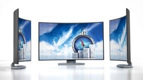 Wyginający się nowe pokolenie TV Fotografia Stock