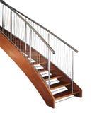 wyginający się schody Fotografia Stock