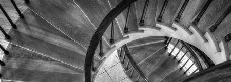 Wyginający się schody Fotografia Royalty Free