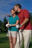 wygląda na odległość pionową w golfa Zdjęcia Stock