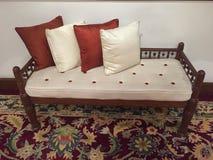 Wygodna ławka dla relaksu zdjęcia royalty free