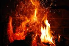wygodna kominek Zdjęcie Royalty Free