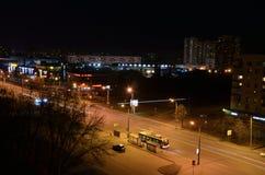 wygodnej domów noc romantyczny morze grać główna rolę ulicę Fotografia Stock