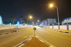 wygodnej domów noc romantyczny morze grać główna rolę ulicę Fotografia Royalty Free
