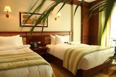Wygodni i luksusowi łóżka Obrazy Royalty Free