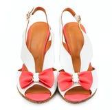 Wygodni sandały na białym tle zdjęcia royalty free