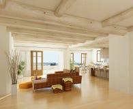 wygodny żywy pokój ilustracji