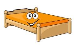Wygodny kreskówki łóżko ilustracji