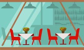 Wygodny lato taras kawiarnia z wyśmienicie jedzeniem royalty ilustracja
