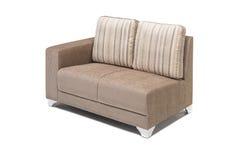 Wygodny luksusowy kanapa set robić wysoka ilość Lenin i skóra w beżowym kolorze Zdjęcie Royalty Free